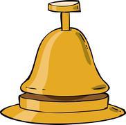 reception bell - stock illustration