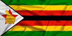 Stock Illustration of zimbabwe flag on a silk drape waving