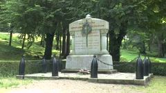 Memorial to the destroyed village of Fleury-devant-Douaumont,  Verdun, France. Stock Footage