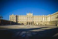 main courtyard of the royal palace in madrid, spain - stock photo