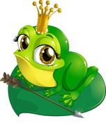 princess the frog - stock illustration