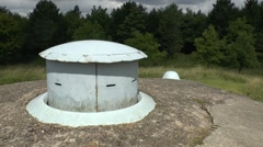 Machine gun rising turret in the Ouvrage of Froideterre, Verdun, Meuse, France. Stock Footage