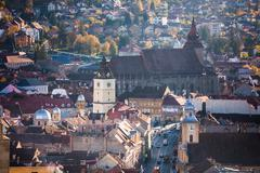 Brasov old city view  on a sunny autumn day Stock Photos