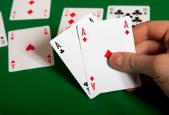Triple aces. - stock photo