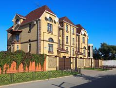 Modern townhouse. - stock photo