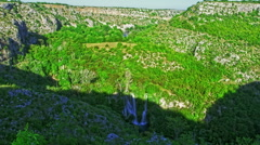 Manojlovac waterfall on Krka river Stock Footage