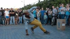 Hip-Hop Dancing On Street Stock Footage