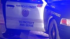 San Diego Police Car Patrol Car Cruiser 1 Stock Footage
