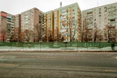 architecture buildings establishments establishing shot time lapse eastern eu - stock footage