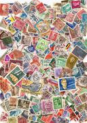 Large pile of postage stamps Stock Photos