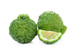 bergamot fruit on white background - stock photo