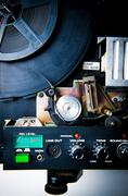 detail of 8mm projector - stock photo