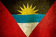 Grunge antigua and barbuda flag Stock Illustration