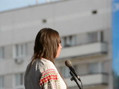 Ukrainian singer. Related clips are in my portfolio in 1920x1080. Stock Footage