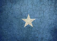 grunge somalia flag - stock illustration
