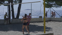 Primosten Beach volleyball Stock Footage