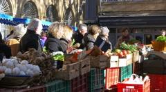 Farmers Market - Aix en Provence France Stock Footage