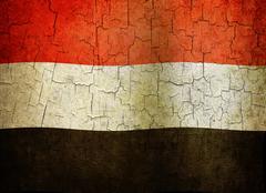 Grunge yemen flag Stock Illustration