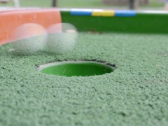 Minigolf and ball. Related clips are in my portfolio in 1920x1080. Stock Footage