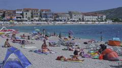 Primosten beach Stock Footage