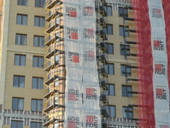 Shooting on building. Related clips are in my portfolio in 1920x1080. Stock Footage