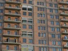 The facade isn't made yet. Related clips are in my portfolio in 1920x1080. Stock Footage