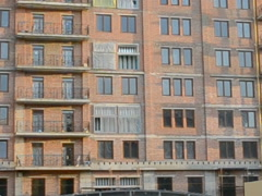 Facade of the unfinished building. Related clips are in portfolio in 1920x1080 Stock Footage