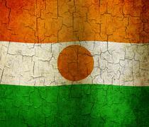 Grunge niger flag Stock Illustration