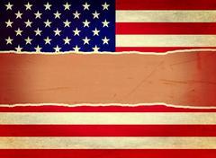 Ripped vintage usa flag Stock Illustration