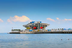 The Pier in Tampa  St. Petersburg Stock Footage