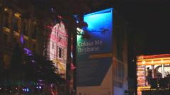 Colour me Brisbane notice board 4K Stock Footage