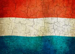 grunge luxembourg flag - stock illustration