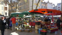 Farmers Market - Aix en Provence France - HD 4K+ Stock Footage