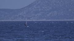 Primosten windsurfing Stock Footage