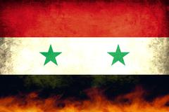 syria conflict flag - stock illustration