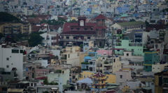 Time Lapse of Shadows Sweeping Across Ho Chi Minh City Vietnam Stock Footage