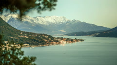 Winter sunset timelapse in Bay of Kotor Stock Footage