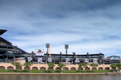 PNC ball park in Pittsburgh Stock Footage