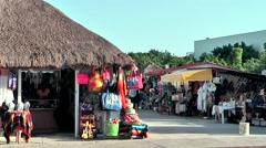 Mexico San Miguel de Cozumel Caribbean Sea 017 touristic bazaar at main street Stock Footage