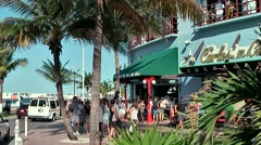 Mexico San Miguel de Cozumel Caribbean Sea 011 turquoise buildings and palms - stock footage