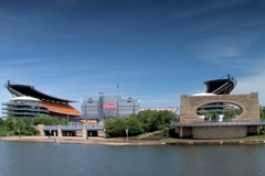 Heinz field in Pittsburgh Stock Footage