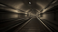 Railroad In Subway Tunnel Stock Footage
