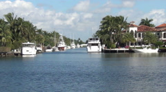 Waterfront homes in Florida Stock Footage