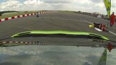 Lamborghini aventador onboard 1 Stock Footage
