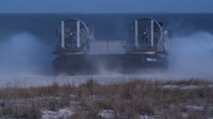 Hovercraft take off Stock Footage