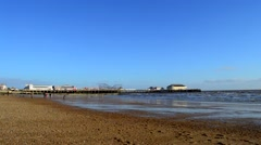 View of Clacton Pier in the Distance Stock Footage
