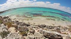 Stock Video Footage of Vivonne Bay on Kangaroo Island, South Australia, fisheye view