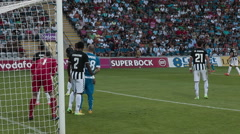 Goalkeeper saves the gate Stock Footage