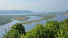 View of the River Volga Stock Footage