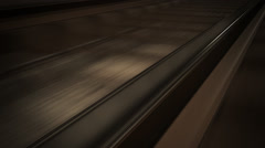 Railroad In Subway Tunnel - stock footage